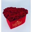 25-roosiga sametist südamekujuline karp