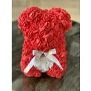 Punane roosikaru valge südamega 25cm