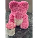 Roosa roosikaru valge südamega 40cm