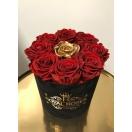 9-roosiga karp, punane+kuldne