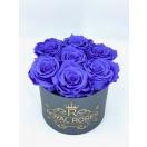 7-tumeda violetse roosiga karp
