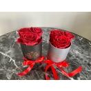 3-punase roosiga kõrge  karp