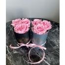 3-roosa roosiga kõrge  karp