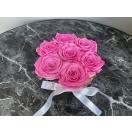 7- Baby pink roosi hõbedases keraamilises vaasis
