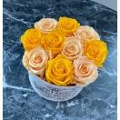 10-roosiga Päikseline mix  marmorkarbis