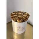 9-kuldse roosiga karp