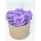 7-heleda violetse roosiga karp
